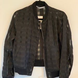 NWT Zara Checkered Sheer Bomber